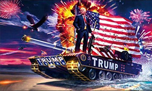 Donald Trump Tank Usa Flag Dl Grandeurs Confederate