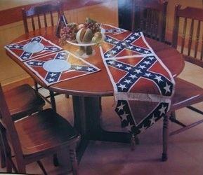 Rebel Flag Table Runner Placemat Set Dl Grandeurs Confederate