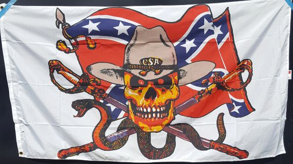 Csa Confederate States Of America Skull Amp Swords Rebel