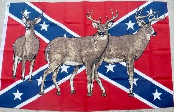 3 X 5 Poly Rebel Flag With Deer Dl Grandeurs