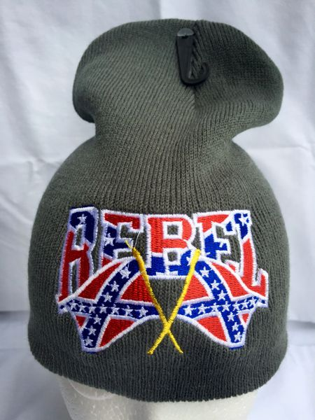 17dedb0b372 Double Rebel Flag Beanie Available in 6 Colors