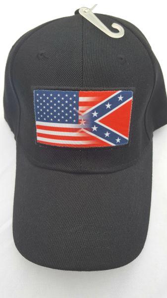 USA Confederate Flag Blended Cap  0aedad88837