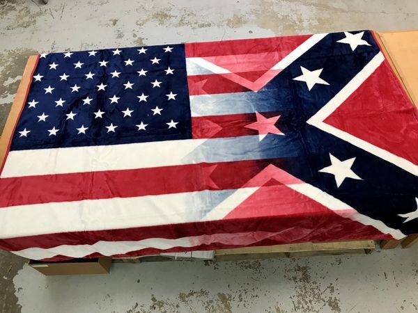 Blended American Amp Rebel Flag Medium Weight Queen Blanket