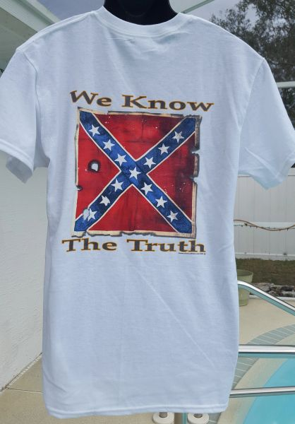 We Know The Truth Confederate Flag T Shirt Dl Grandeurs