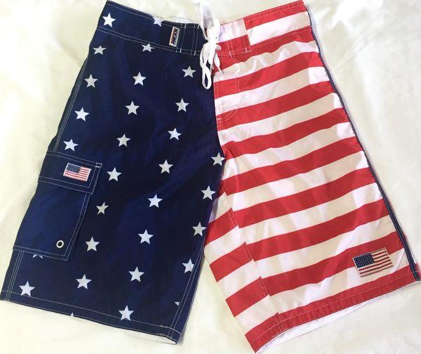 American Flag Swim Trunks Dl Grandeurs Confederate