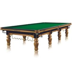 12' SNOOKER TABLE ROUND LEG TRADITIONAL KING GOLD