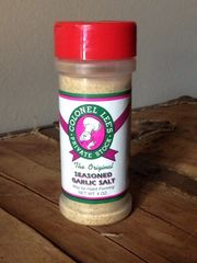 Colonel Lee's Louisiana CREOLE SEASONED GARLIC Salt, 4oz. SAVINGS of 5% with PURCHASES of $24.95 using COUPON CODE- YES or 10% with PURCHASES of $39.95 using COUPON CODE- YESYES