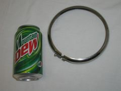 Head Light stainless steel trim ring with bolt