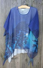 Cocoon House Long Silk Sheer Moonlight Layering Tunic