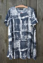 Bella Blue Abstract Tunic