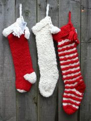 Old Fashioned Handknit Christmas Stocking