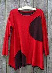 Fenini Reversible Red Circle Top, Size XL -- LAST ONE!