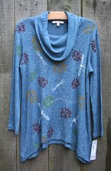 Jess & Jane Cowl Neck Sweater Knit Top -- LAST ONE