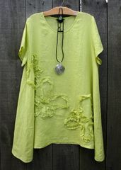 Peacock Ways Embroidered Tunic