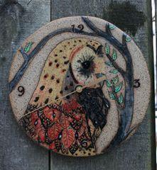 Mountain Gal Owl Clock