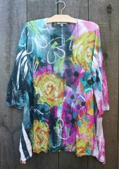 Jess & Jane Melange Crush Roses Tunic- LAST ONE!