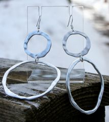 Double Circle Earrings by Island Imports