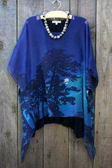 Cocoon House Long Silk Sheer Moonlight Layering Tunic