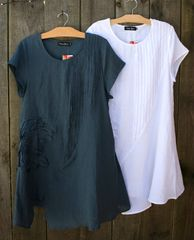 Bella Blue Applique Linen Tunic