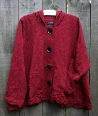Prisa Cranberry Hooded Jacket