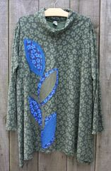 Applique Olive Windy Tunic