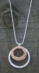 Double Hoop Pendant by Island Imports