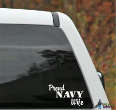 Proud NAVY Family Member Decal - Universal Fit