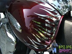 Custom Designed Flame Graphics kit fits Honda VTX 1300 C
