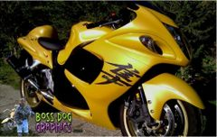 Second Generation Suzuki Hayabusa Kanji Graphics Kit, Same Size as Stock - Twilite Options