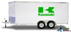 Huge Kawasaki Graphic fits Trailer!