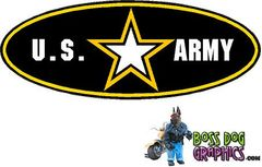 Printed Ford Emblem Overlay Decal fits 99-04 Ford FSeries United States Army