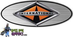 Printed Ford Emblem Overlay Graphic International Harvester fits 2005-2011 F250-550