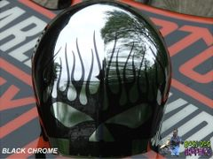 Custom Designed Flamin Skull Graphic fits Harley Davidson Horn Bell Cover