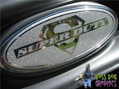 Ford Emblem Overlay Graphic SuperDuty fits 2005-2011 F250-550