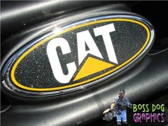 Ford Emblem Overlay Graphic CAT Fits 2005-2011 F250-550 Caterpillar