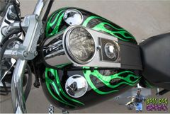 Custom Designed Flame Graphics kit fits Harley Davidson Softail Standard FXSTI