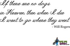 Custom Wall Decal - If there are no dogs in Heaven...