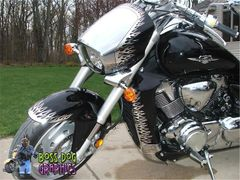 Custom Designed Flame Graphics kit fits Suzuki M109R Boulevard