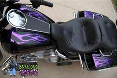 007 Custom Designed Flame Graphics kit fits Harley Davidson Electra Glide, Street Glide