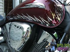 Custom Designed Flame Graphics kit fits Honda VTX 1300R