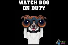 "Jack Russell Terrier Holding Binoculars ""Watch Dog on Duty"""