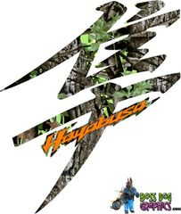 Second Generation Suzuki Hayabusa Graphics kit Custom Camo Print