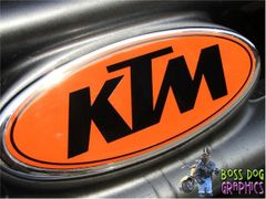 Ford Emblem Overlay Graphic KTM fits 1999-2004 F250-550