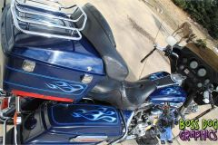 Custom Designed Tribal Flame Graphics kit fits Harley Davidson Electra Glide, Street Glide Saddle Bags