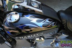 Custom Designed Tribal Flame Graphics kit fits Harley Davidson Softail Standard