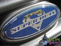 Ford Emblem Overlay Graphic SuperDuty fits 1999-2004 F250-550