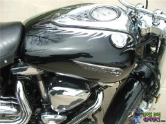 Custom Designed Flame Graphic set fits Yamaha Road Star