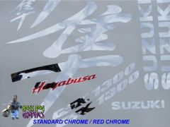 First Generation Suzuki Hayabusa Kanji Graphics Kit, Same Size as Stock - Chrome Options