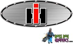 Ford Emblem Overlay Printed Graphic fits 05-11 Ford FSeries International Harvester