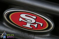 Ford Emblem Overlay Printed Graphic San Francisco 49ers fits 2005-2011 F250-550